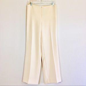 Vintage High Waisted Pants Cream Flat Front Slacks